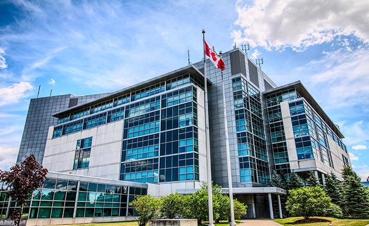 agency building canadian flag