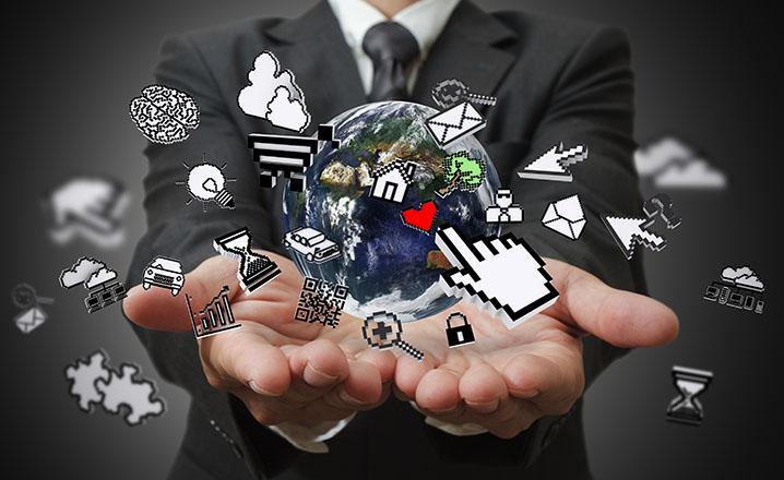 businessman internet services
