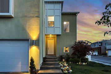 house exterior evening