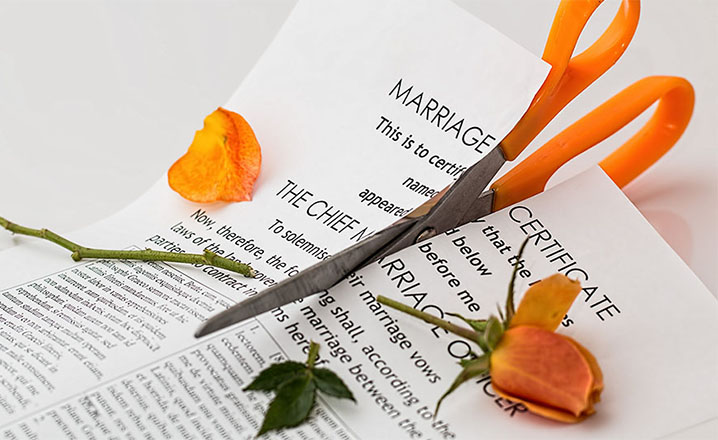 marriage certificate cut