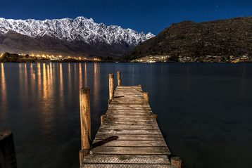 new zealand night landscape
