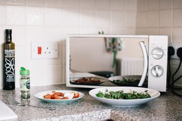 silver microwave owen